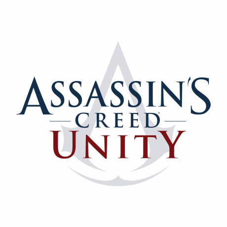 The Assassins Creed Unity logo.