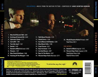 Collateral Soundtrack Score (back cover)