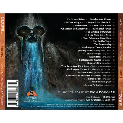 Shadowgate (Rich Douglas) [Video Game Soundtrack] [back cover]