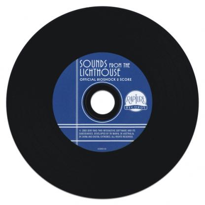 BioShock 2 soundtrack CD (disc)