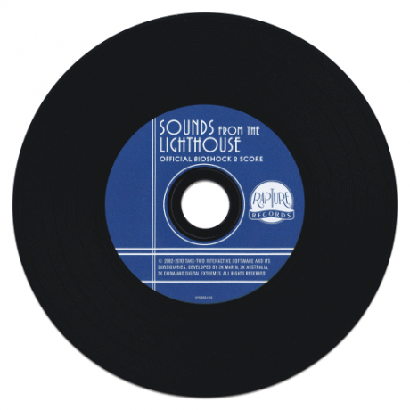 """The compact disc (styled like a 7"""" record!)"""
