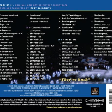 The complete track listing on this stunning 3-disc release!