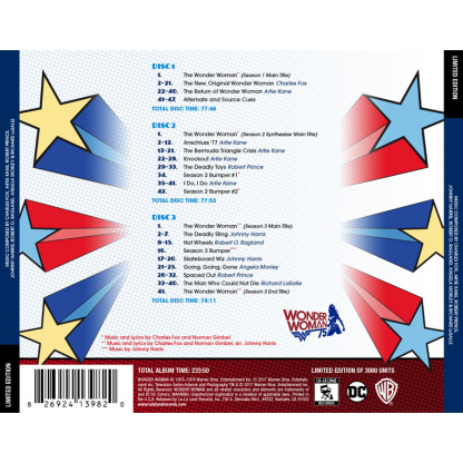 Wonder Woman (Television Series Soundtrack) [back cover]