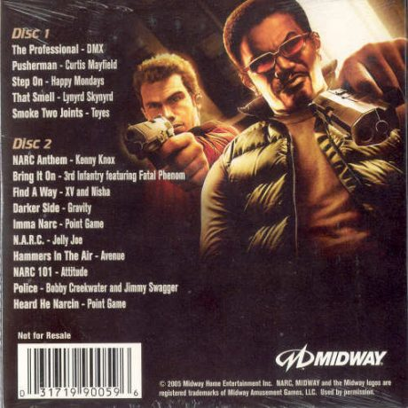 The back cover, inc. track listing.