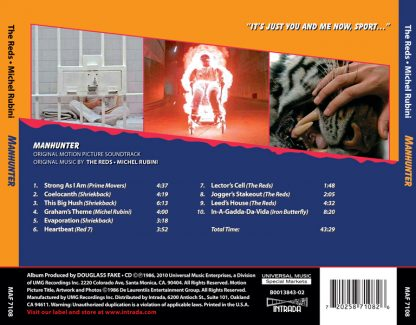 Manhunter (Soundtrack back cover)