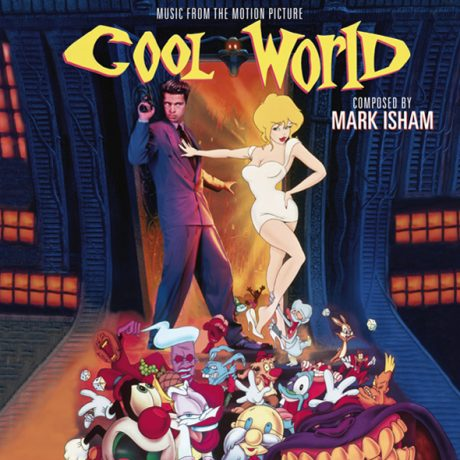 The colourful album artwork. Music by Mark Isham.