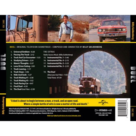 The track listing is printed on the back cover.
