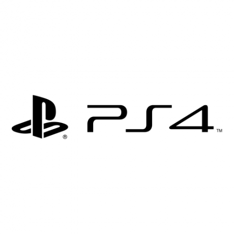 The official PS4 (PlayStation 4) logo from SONY.