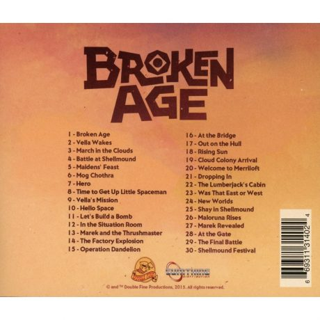 The back cover inc. track listing.