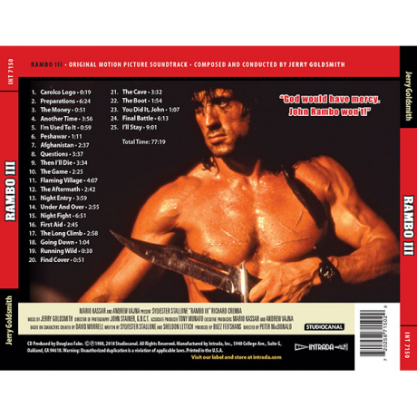 The complete track list is shown on the back cover/insert.