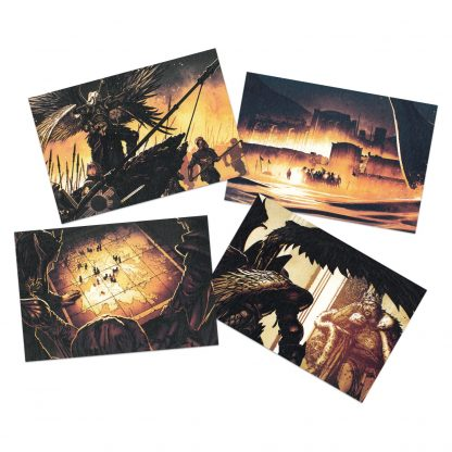 Might & Magic X Legacy Postcards (group image showing all 4 in the set)