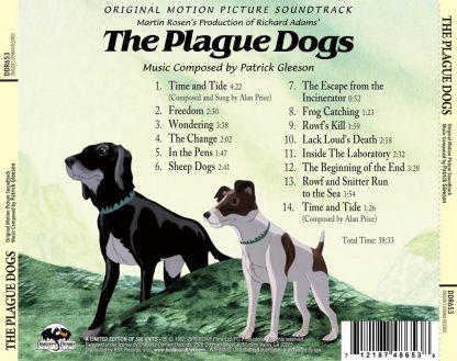 The Plague Dogs Soundtrack [CD] (cover art, back)