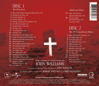 Back cover artwork (Dracula - The Deluxe Edition Soundtrack [2CD])