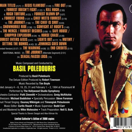 On Deadly Ground – The Deluxe Edition Soundtrack [CD] (back cover)