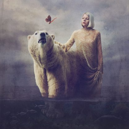 Aurora Art Print (12 x 12) [Aurora with Polar Bear]