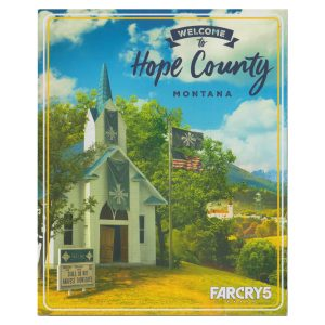 Far Cry 5 Hope County Game World Map and Poster (front cover)