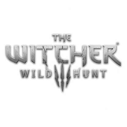 The Witcher 3: Wild Hunt (official game logo, mono)