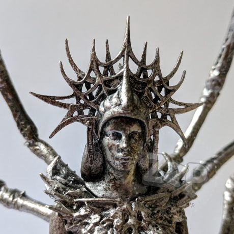 Daedric Prince Mephala Statue (The Elder Scrolls Online – Summerset) [detail – head, front]