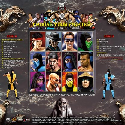 Mortal Kombat 1 and 2 - Music from the Arcade Game Soundtrack [VINYL] (back)