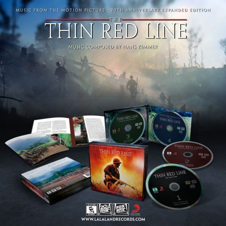 The Thin Red Line Expanded Soundtrack [4xCD] (presentation shot showing contents)