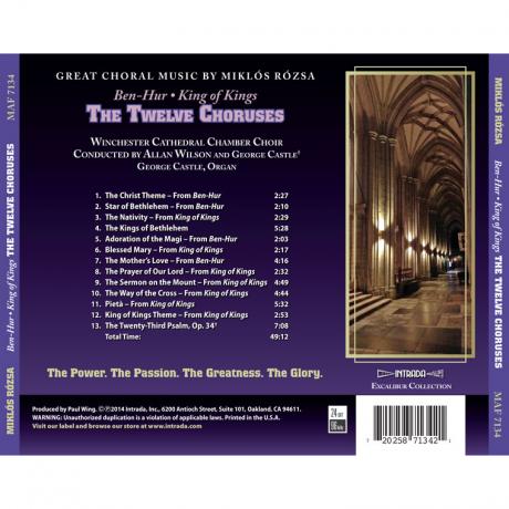 Ben-Hur and King Of Kings – The Twelve Choruses (Soundtrack) [CD] MAF 7134 (back)