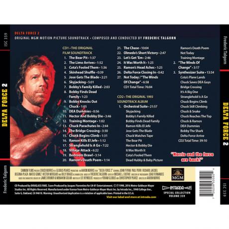 Delta Force 2 (Soundtrack) [2CD] ISC 359 (back)