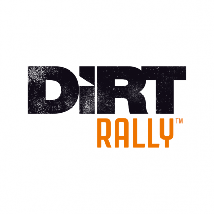 The official Dirt Rally video game logo