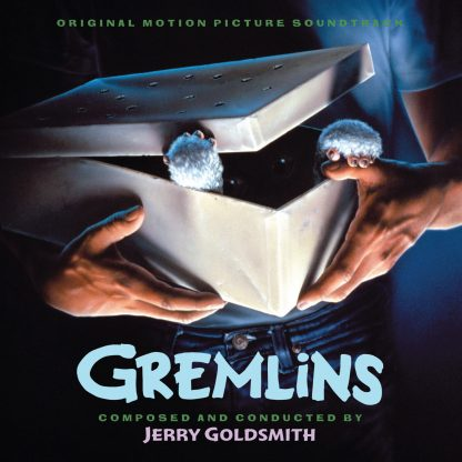 The cover artwork for the official expanded Gremlins soundtrack CD (2xCD!)