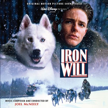 The cover artwork for the Intrada expanded soundtrack CD release for Iron Will (2019)