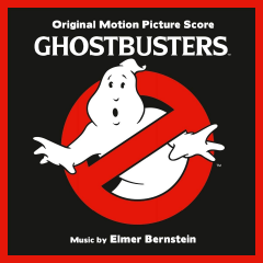 The iconic cover artwork from the Ghostbusters soundtrack (score) album (2019 edition)