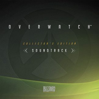 The cover artwork from the collector's edition physical CD soundtrack featuring music from Overwatch (by Blizzard)