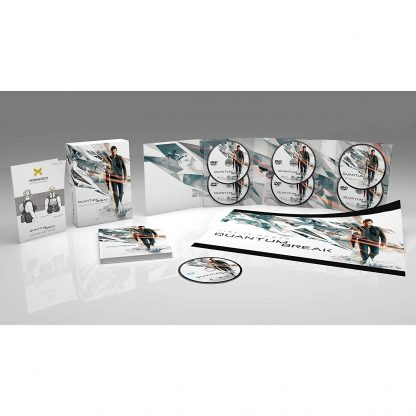 Image showing the contents of the Quantum Break collector's edition (PC exclusive!)