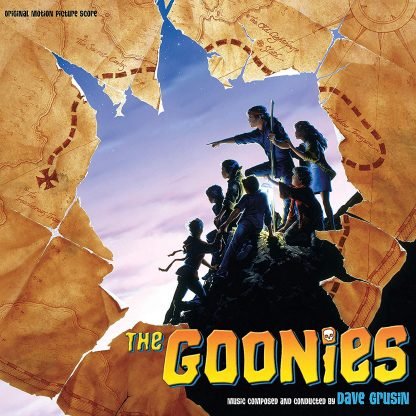 The Goonies soundtrack score cover art (2019 CD re-issue edition)