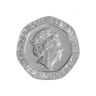 20 Pence Coin 20p (cut-out photograph)