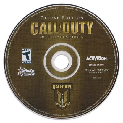 The stand-alone soundtrack CD disc for Call of Duty (music by Michael Giacchino)