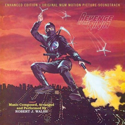 Cover artwork for the Revenge Of The Ninja soundtrack CD (a limited edition)