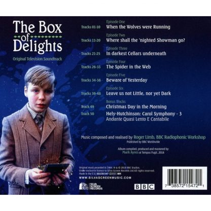 The Box of Delights soundtrack CD (back cover artwork)