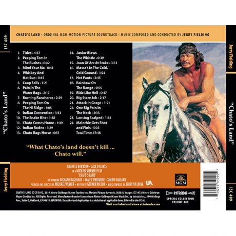 Chato's Land (Soundtrack) [CD] [back cover]
