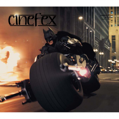 The front cover of issue #115 of Cinefex (October, 2008)