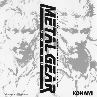 cover artwork for the original Metal Gear Solid Soundtrack CD album