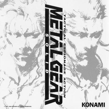 cover artwork for the original Metal Gear Solid Soundtrack CD album