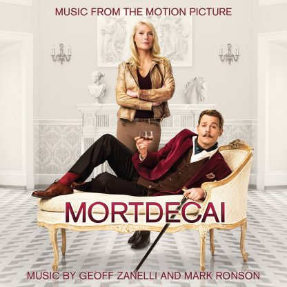 cover artwork for the Mortdecai Soundtrack CD (featuring Gwyneth Paltrow and Johnny Depp