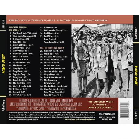 King Rat Soundtrack (CD) John Barry ISC 434 [back cover]