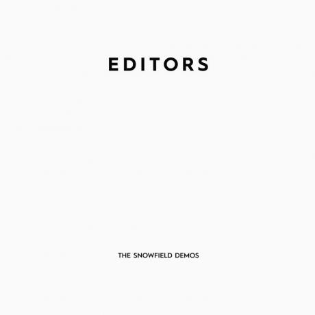 The Snowfield Demos EP (Editors) PIASR1124CD