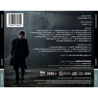 Naked (Mike Leigh) Soundtrack (CD) [back cover]
