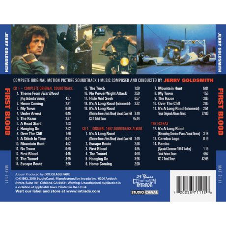 First Blood (Rambo) Soundtrack [2xCD]