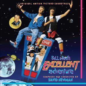 Bill and Ted's Excellent Adventure Soundtrack (CD) ISC 456 (front cover album artwork)