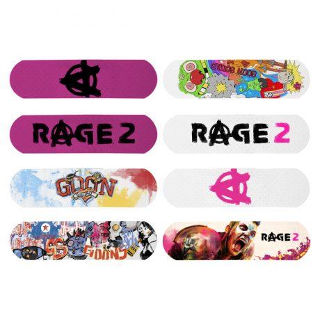 Rage 2 – Set of 6 (Six) Plasters (Band-Aids) 310461