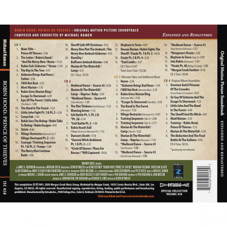 Robin Hood: Prince of Thieves – Expanded and Remastered Soundtrack [4xCD]