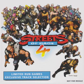 Streets of Rage 4 Limited Run Games Exclusive Track Selection (front cover artwork)